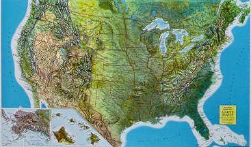 Products United States Relief Map Raised